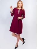 Платье-трапеция с жемчугом 2893