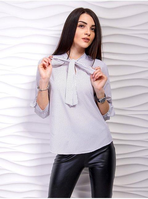 Блуза в горошек с бантом. Арт.2264