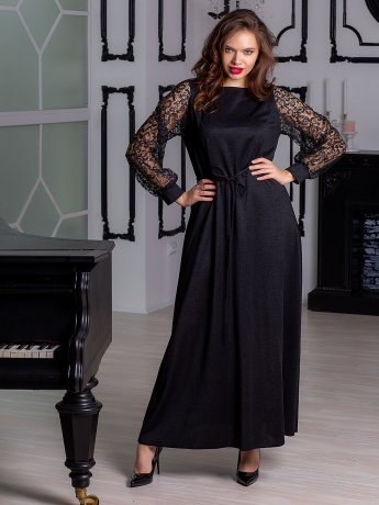 Сукня з мереживними рукавами 2901