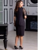 Нарядное платье с красивым кружевом 2895