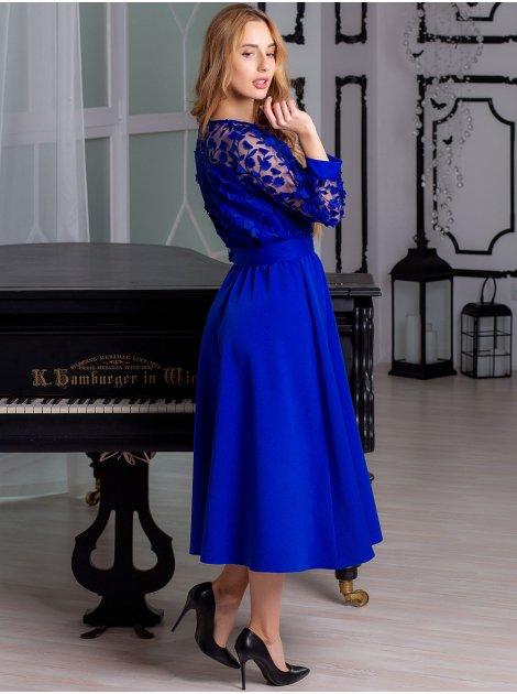 Красивое платье миди с кружевом 2896