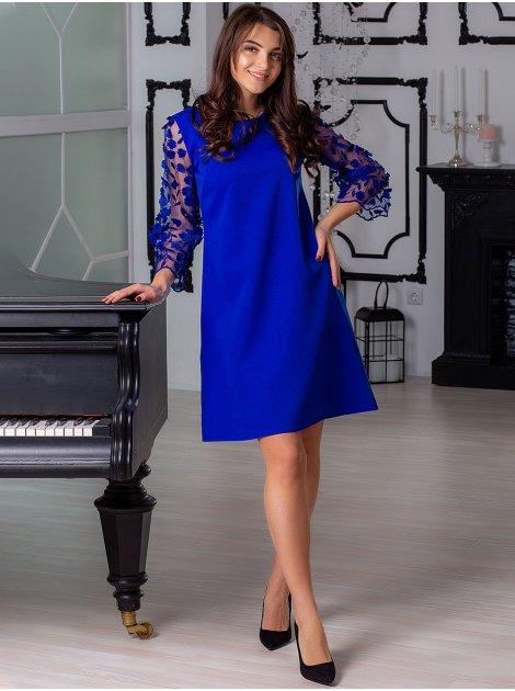 Платье с нарядными рукавами 2891
