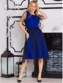 Обворожительное платье, комбинированное с сеткой. Арт.2591
