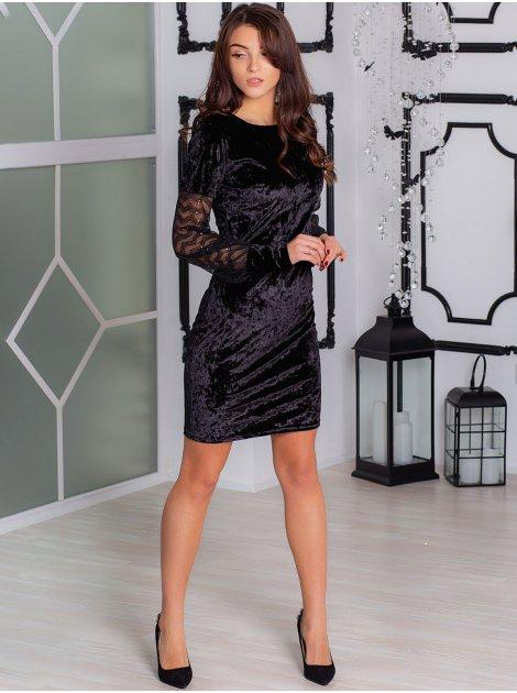 Бархатное вечернее платье 2897