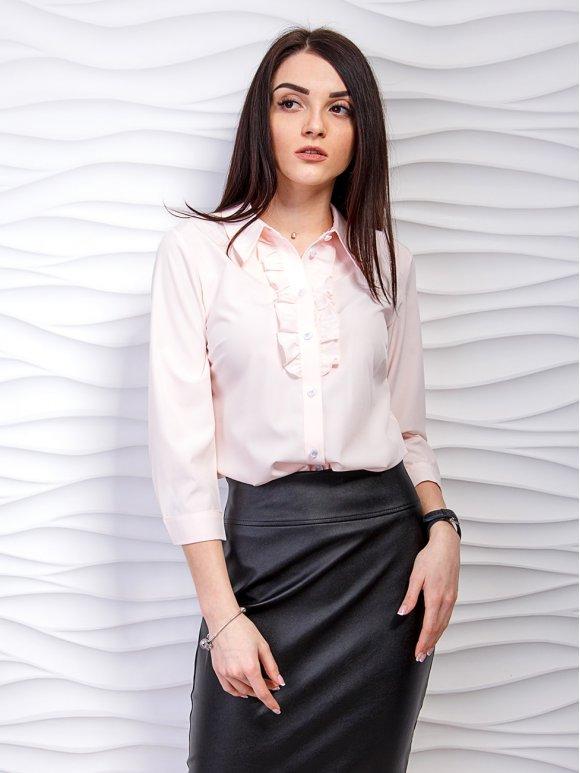 Нарядная блуза с рюшами и четвертным рукавом. Арт.2245