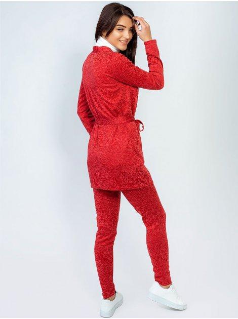 Костюм: элегантная удлинённая кофта с поясом и карманами + удобные брюки. Арт.2492
