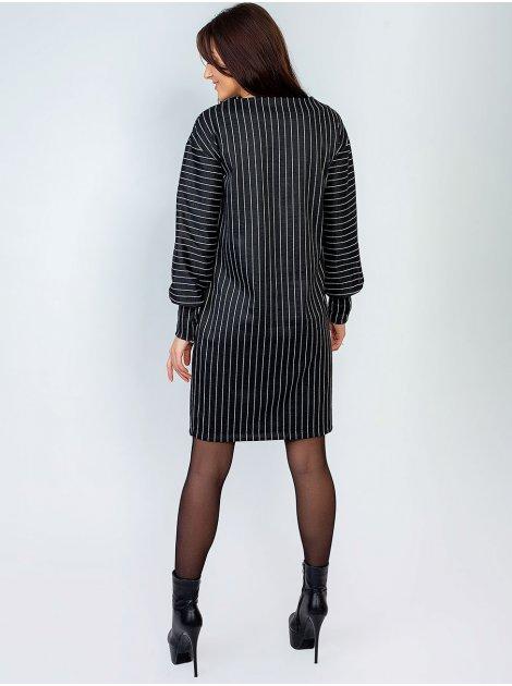 Свободное платье в вертикальную полоску 2885