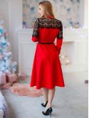Нарядное платье с кружевом 2905