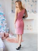 платье с люрексом на одно плечо 2894