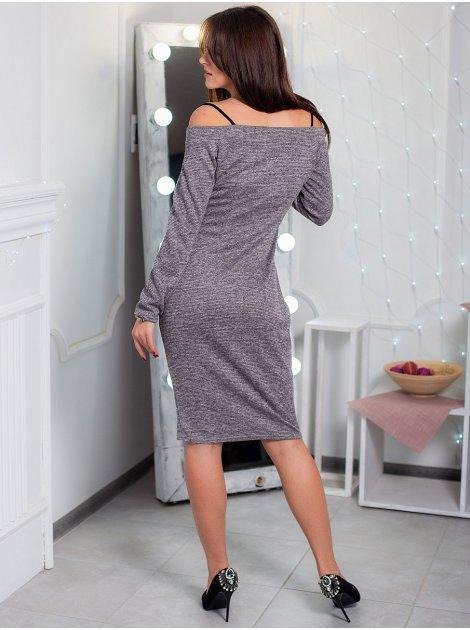 Эффектное платье с открытыми плечами. Арт.2598