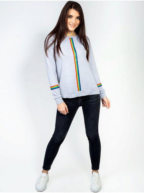 Свитшот с разноцветными лампасами 2915