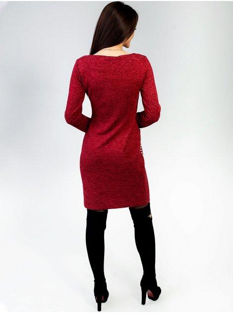 Женственное платье с карманами, украшенными жемчугом. Арт. 2418.1