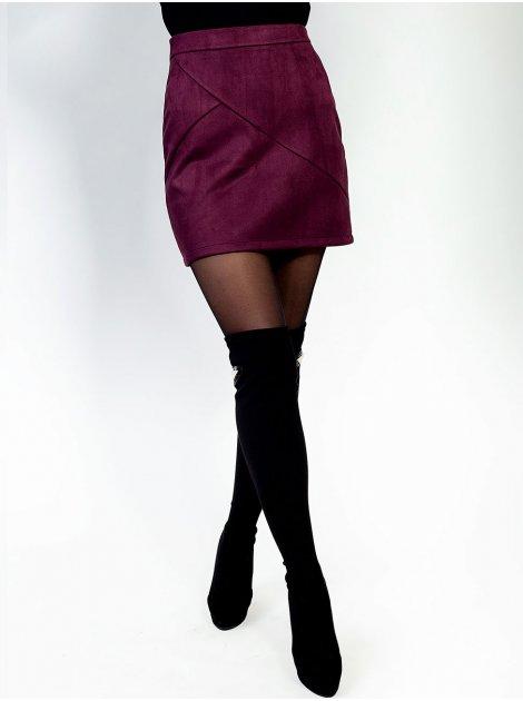 Замшевая юбка мини 2765