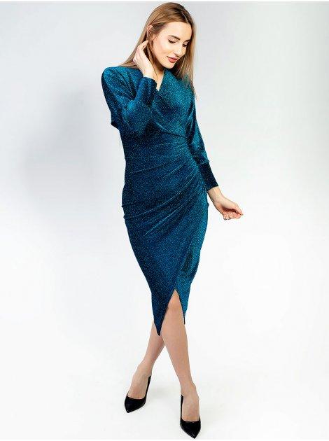 Платье с люрексом и имитацией запаха 2898