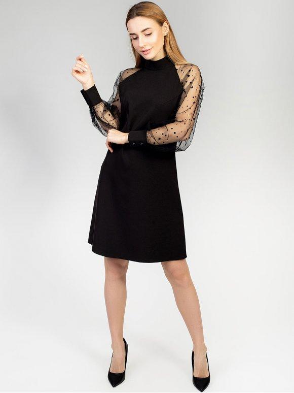 Очаровательное платье с нарядными рукавами. Арт.2595