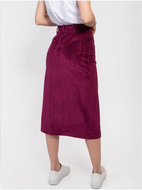 Вельветовая юбка миди на пуговицах 2931