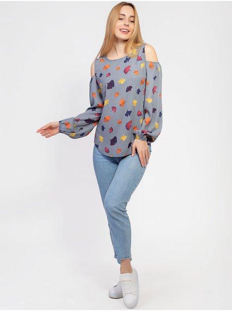 Легкая блуза с открытыми плечами 2947