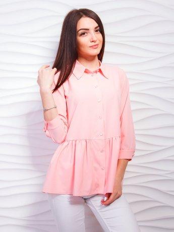 Стильная блуза-рубашка с баской. Арт.2285