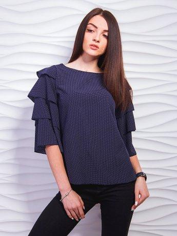 Модная блуза с многослойными рукавами-воланами. Арт.2311