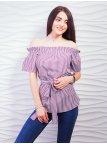 Очаровательная блуза с открытыми плечами. Арт.2336