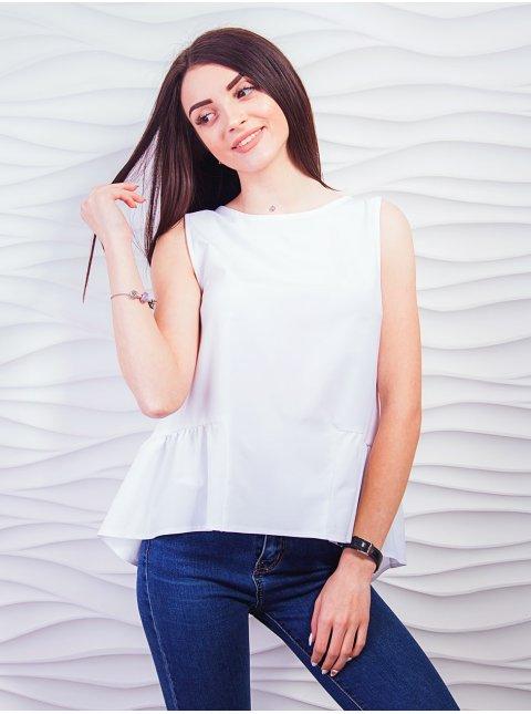 Блуза без рукавів з баскою. Арт.2335