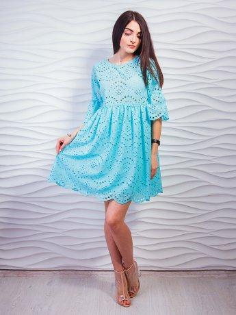 Кокетлива бавовняна сукня вільного фасону. Арт.2340