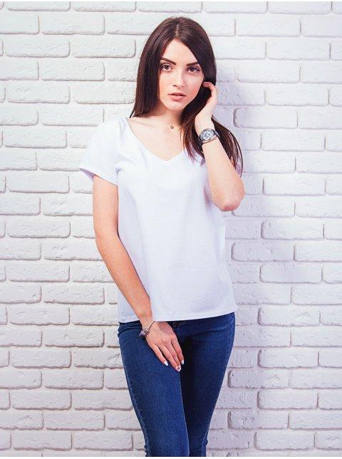 Базовая футболка с V-образным воротником. Арт.2363