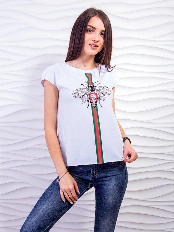 Трендовая футболка с необработанным низом. Арт.2360