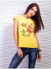 Красивая футболка с красочным принтом. Арт.2365