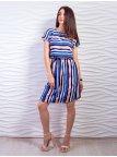 Лёгкое полосатое платье с поясом. Арт.2338