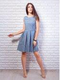 Хлопковое платье в клетку. Арт.2370