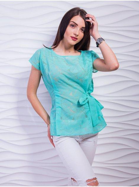 Нежнейшая блуза из органзы с завязкой. Арт.2378