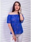 Синий с цветочным узором