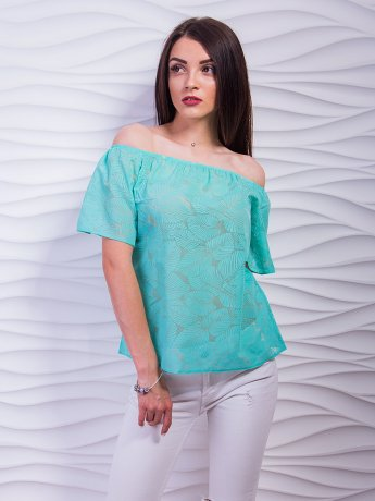Воздушная блуза с открытыми плечами. Арт.2377