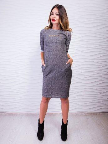 Эффектное платье с карманами, украшенное принтом. Арт.2422