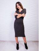 Нежное платье приталенного силуэта с v-образным вырезом. Арт.2421