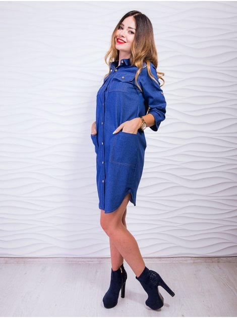 Стильное платье-рубашка на пуговицах. Арт.2228