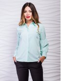 Ошатна блуза з рукавами-ліхтариками, прикрашена розсипом перлин. Арт.2396