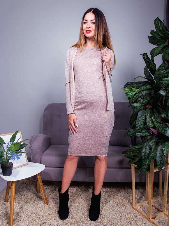 Комплект: сукня по фігурі + стильна накидка. Арт.2440