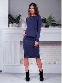 Костюм: кофта из фактурной ткани +  юбка с фигурным низом. Арт.2398