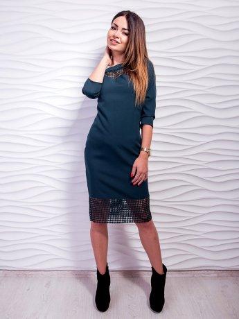 Необычное платье, декорированное вставками дорогого кружева. Арт.2443