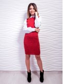 Платье с нарядными рукавами, украшенными вышивкой. Арт.2448