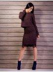 Костюм: Укороченная кофта+юбка с кружевом по низу. Арт.2114