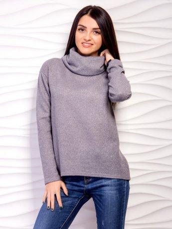 свитер свободного кроя с воротником хомут. Арт.2106