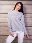 Мягкий свитер, декорирован бусинами. Арт.2119