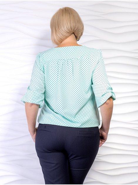 Блуза батал из тонкой ткани в горошек. Арт.2312