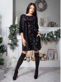 Нарядное платье оверсайз с пайетками. Арт.2583