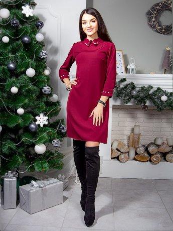 Нарядное платье с украшениями в виде жемчуга. Арт.2516