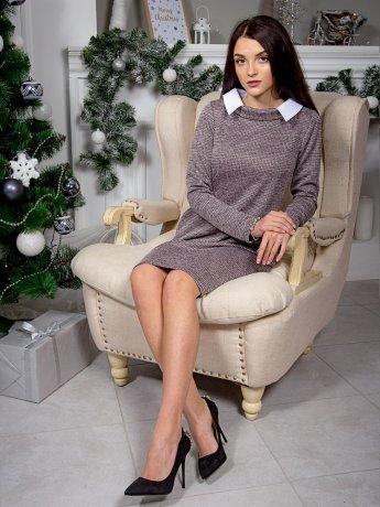 Оригинальное платье с воротником и удобными карманами. Арт.2563