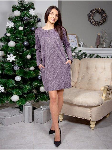 Красивое фактурное платье с оригинальным замком. Арт.2576